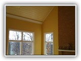 Toungue & groove wood ceilings & moldings, New paint